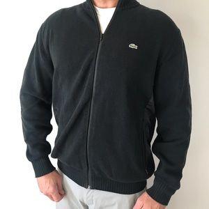 Lacoste Knit Zip Up Jacket